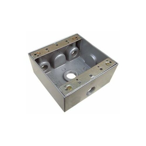 """Morris Products Weatherproof Boxes in Gray with 4"""" Outlet Holes"""