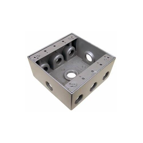 Morris Products Weatherproof Boxes in Gray with 9 Outlet Holes