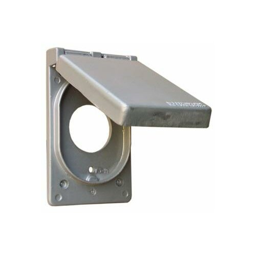 "Morris Products 1.63"" One Gang Weatherproof Covers in Gray for Vertical Power Receptacle"