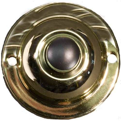 Morris Products Unlit Round Pushbuttons in Polished Brass