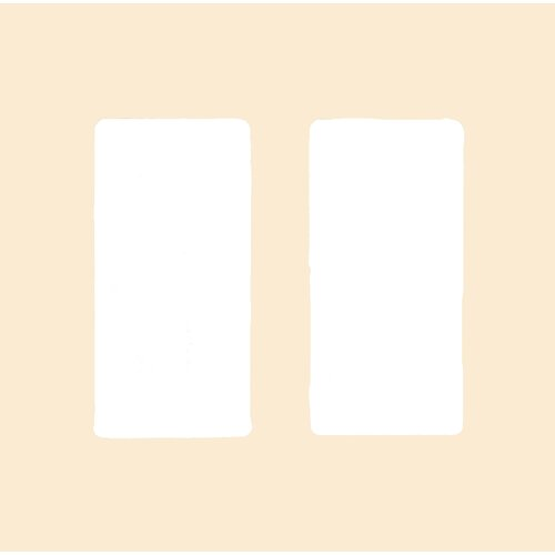 Morris Products 2 Gang Decorator Screwless Snap in Wall Plates in Almond