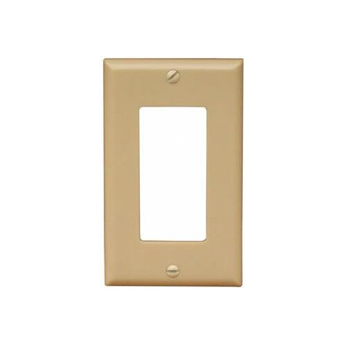 Morris Products 1 Gang Decorator / GFCI Lexan Wall Plates in Ivory