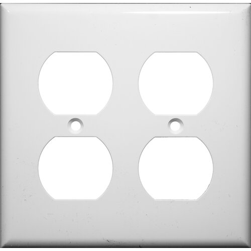 Morris Products 2 Gang Duplex Lexan Receptacle Wall Plates in White