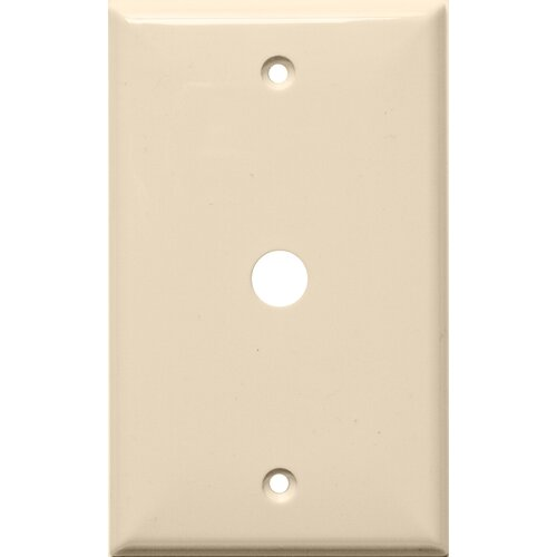 "Morris Products 1 Gang 0.41"" Hole Lexan Cable Wall Plates in Almond"