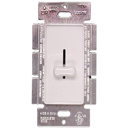 Morris Products Slide Single Pole Dimmer in White
