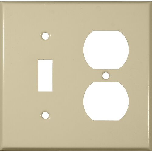 Morris Products Two Gang / Duplex and Toggle Metal Wall Plates in Ivory