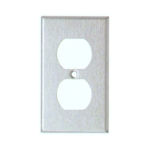 Morris Products Oversize Duplex Receptacle 1 Gang Stainless Steel Metal Wall Plates
