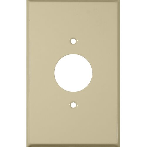 Morris Products Oversize 1 Gang Single Receptacle Wall Plate in Ivory