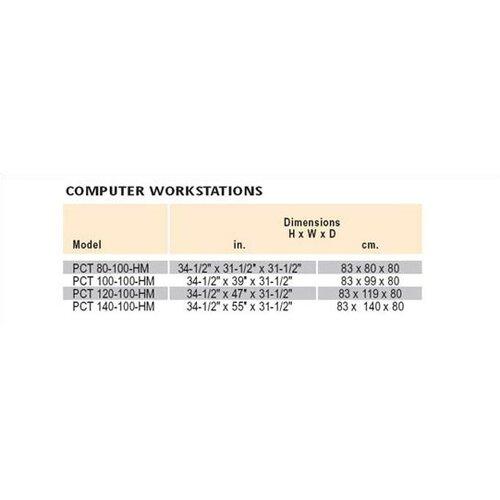 Da-Lite PCT 140-100 HM Computer Table