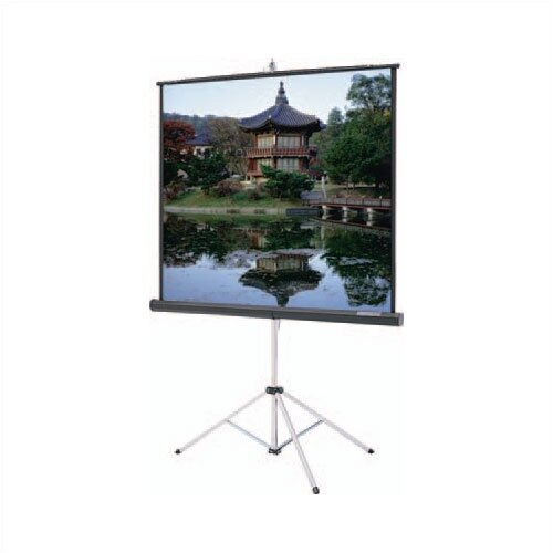 "Da-Lite Carpeted Picture King Glass Beaded 96"" H x 96"" W Portable Projection Screen"