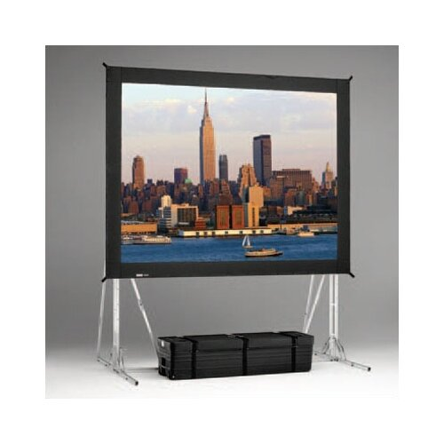 "Da-Lite Fast Fold Rear Da-Tex 144"" H x 144"" W Portable Projection Screen"
