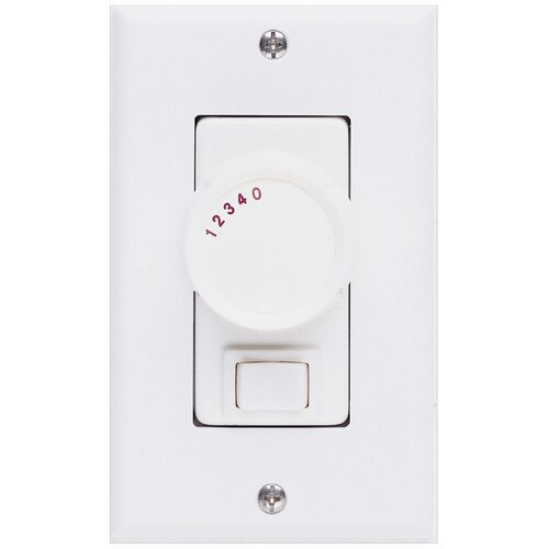 Concord Fans Three Way Ceiling Fan Rotary Wall Control Unit in White
