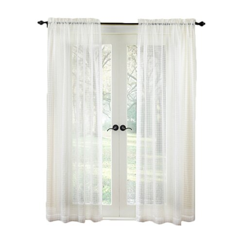 Waverly Cotton Rod Pocket Pane Curtain Single Panel