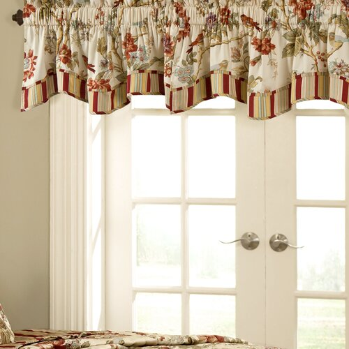 waverly charleston fresh chirp 50 quot curtain valance