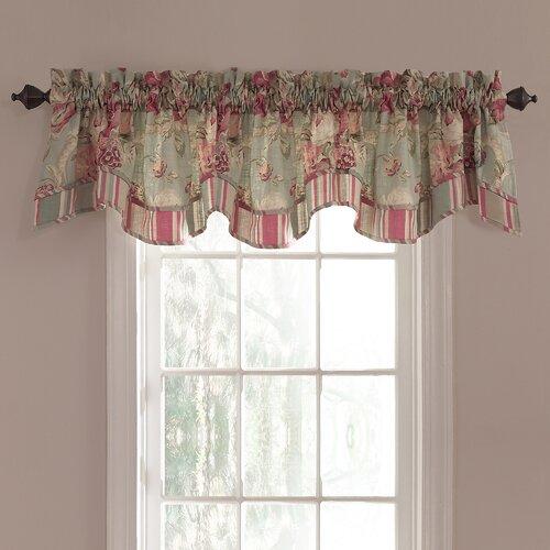 Spring bling 50 curtain valance wayfair - Waverly kitchen curtains ...
