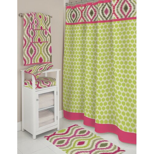 Optic Delight Polyester Shower Curtain