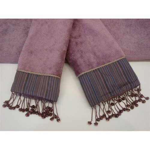 Silk Strie Decorative 3 Piece Towel Set