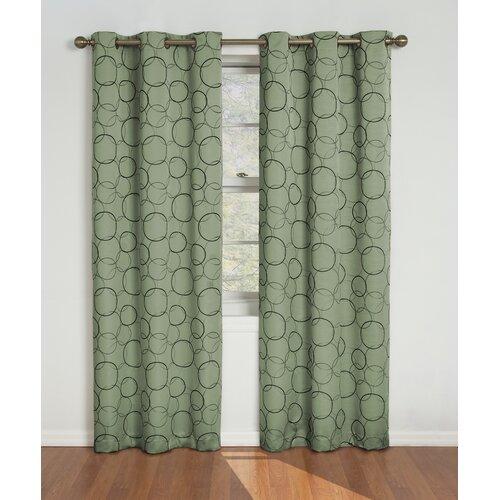 curtains meridian grommet single curtain panel reviews wayfair