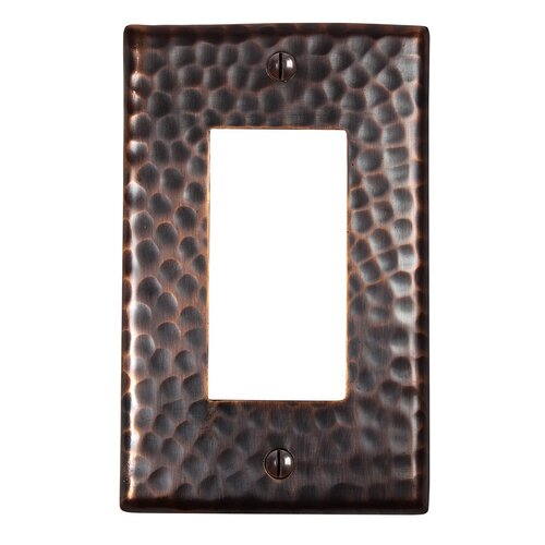 The Copper Factory Hammered Copper Single GFCI Plate