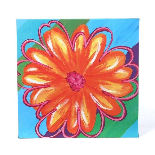 Art 4 Kids Vivid Daisy Stripe II Canvas Art