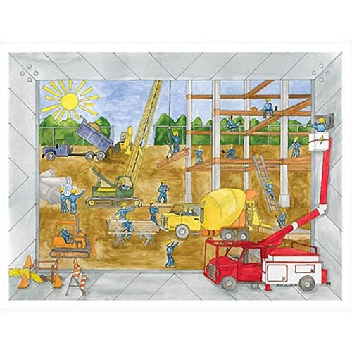 Art 4 Kids Construction Site Canvas Art