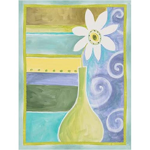 Green Geo Vase I Canvas Art