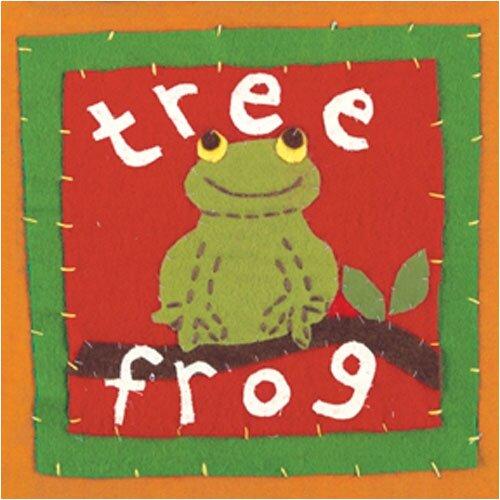 Art 4 Kids Patchwork Tree Frog Canvas Art