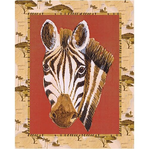 Out of Africa Zebra Canvas Art