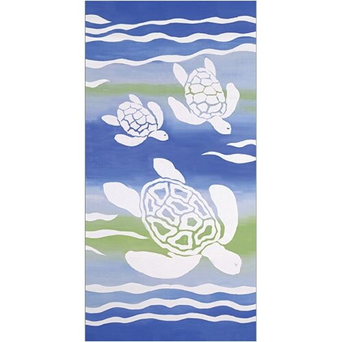 Turtle Swim Canvas Art