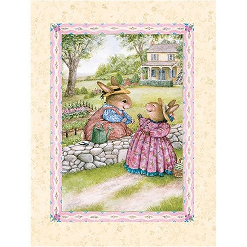 Art 4 Kids Bunny Gossip Canvas Art