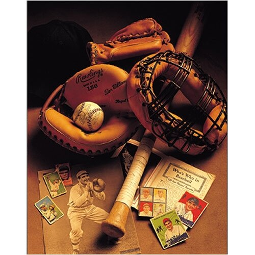 Vintage Baseball Canvas Art