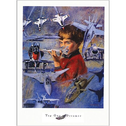 Top Gun Dreamer Canvas Art