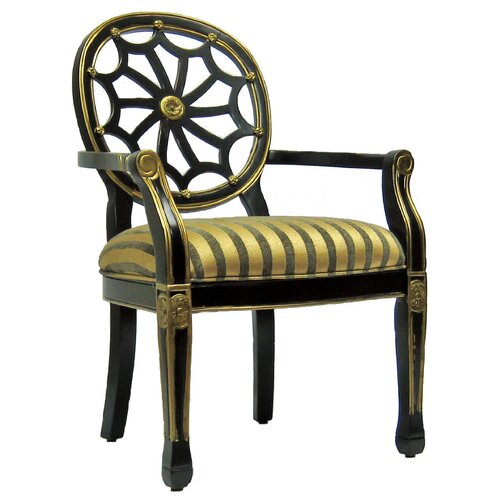 Royal Manufacturing Black Spider Cotton Arm Chair