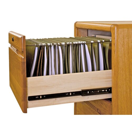 Martin Home Furnishings Contemporary Medium Oak 2 Drawer File Pedestal