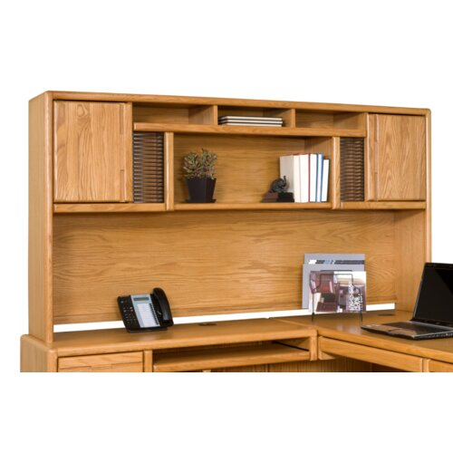 Martin Home Furnishings Contemporary Medium Oak Deluxe Hutch