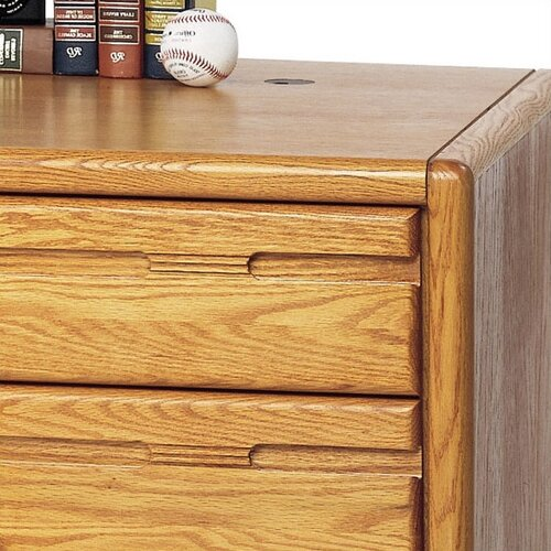 Martin Home Furnishings Contemporary Medium Oak 60'' Double Pedestal Executive Desk