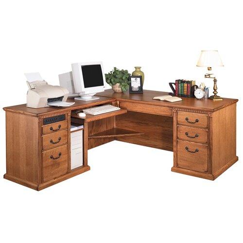 Martin Home Furnishings Huntington Oxford Left L-Shaped Executive Desk