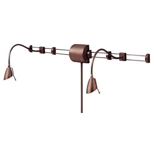 Dainolite Adjustable Reading Over the Bed Gooseneck Wall Lamp