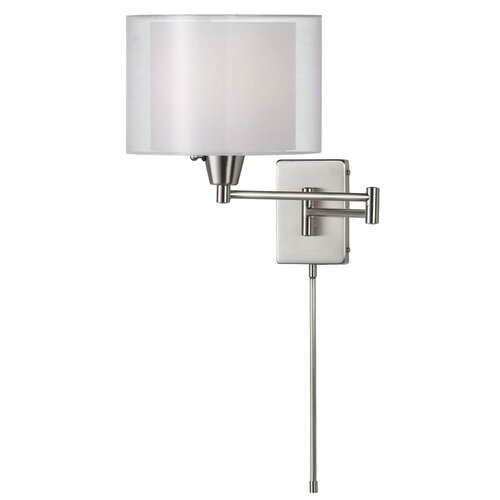 Dainolite Shade Within a Shade Swing Arm Wall Sconce