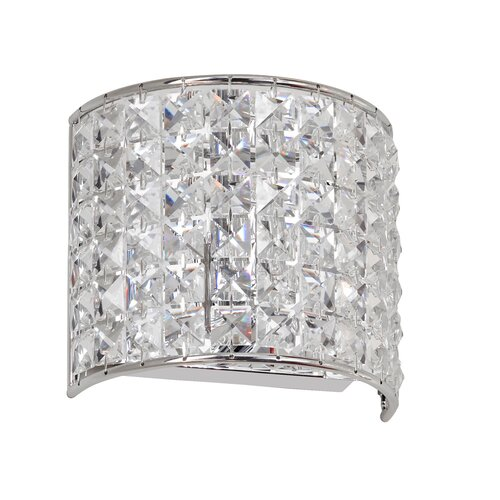 Clear Crystal Wall Sconces : Dainolite Crystal 1 Light Wall Sconce & Reviews Wayfair