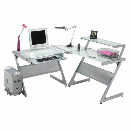 Dainolite L-Shap...L Shaped Computer Desk For Two
