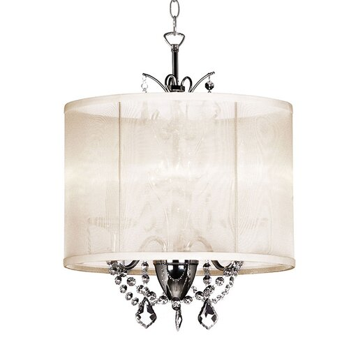 Vanessa 3 Light Drum Chandelier