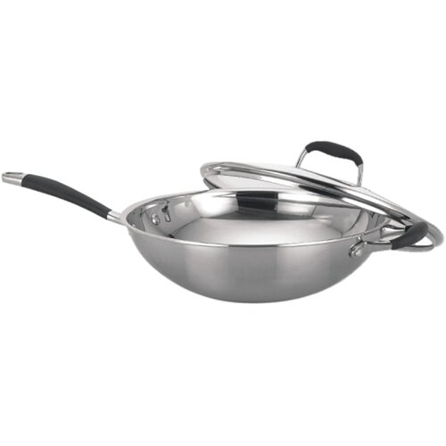 Sunpentown Stainless Steel Wok with Lid
