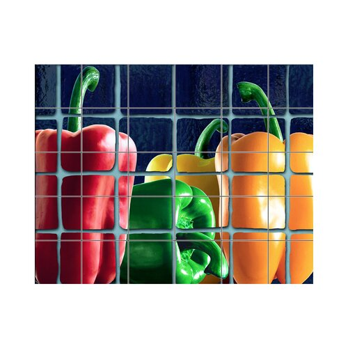 Peppers Kitchen Tile Mural In Multi Colored Wayfair