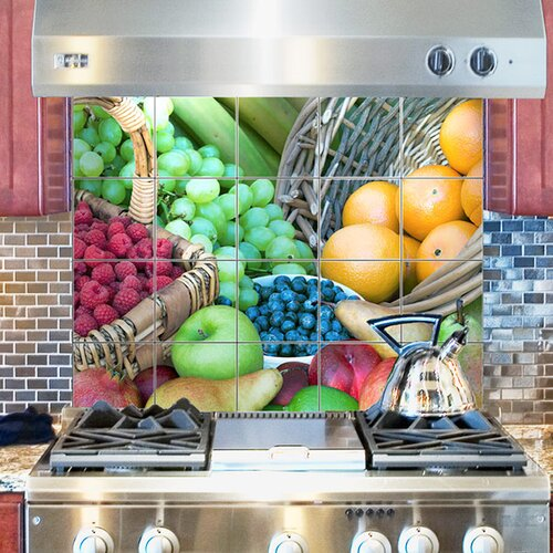 LMT Tile Murals Fruits Kitchen Tile Mural in Multi-Colored