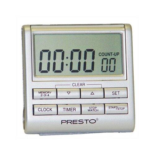 Presto Electronic Clock Timer in Silver