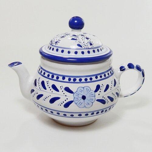 Le Souk Ceramique Azoura Design 0.75-qt. Teapot
