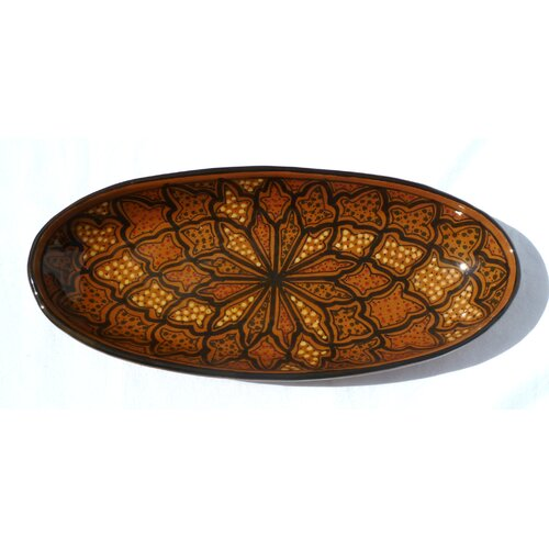 Le Souk Ceramique Honey Design Oval Platter