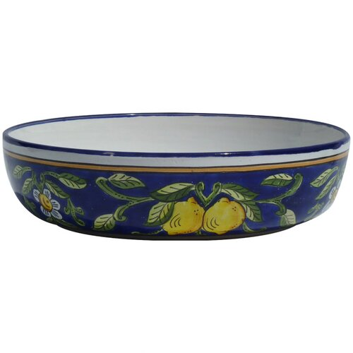 "Le Souk Ceramique Citronique Design 12"" Serving Bowl"