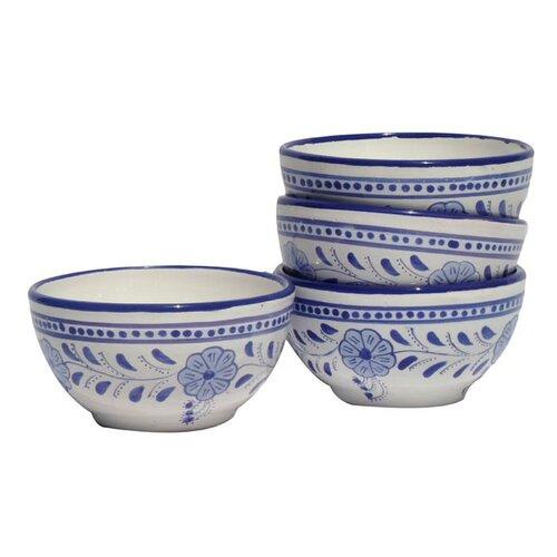 Le Souk Ceramique Azoura Design 16 oz. Soup / Cereal Bowl